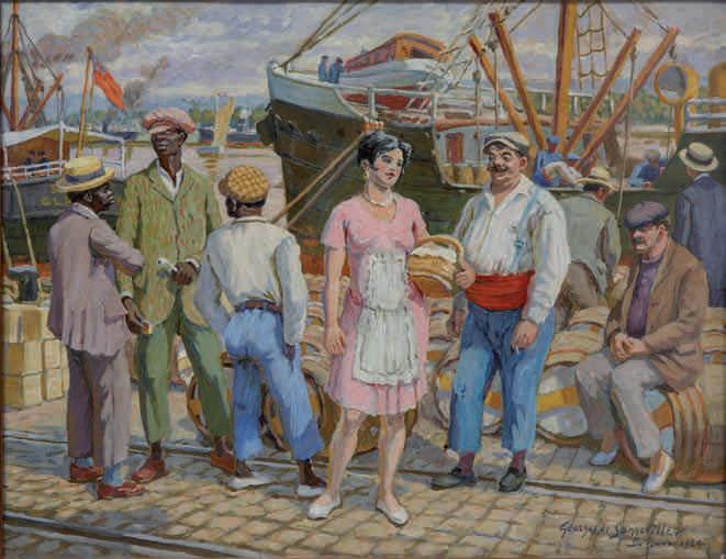 Sonneville Georges de, Sur le quai des Chartrons, (1924)