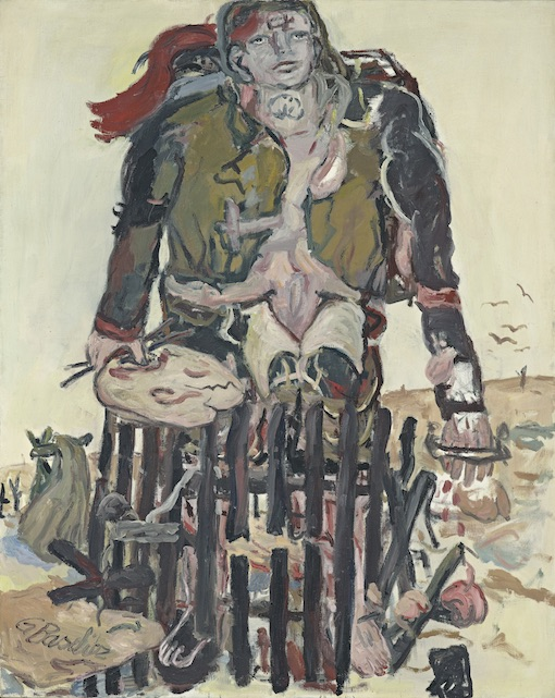 Georg Baselitz, Verschiedene Zeichen, 1965, Huile sur toile, Fondation Beyeler, Riehen/Bâle, Collection Beyeler © Georg Baselitz, 2017. Photo: Robert Bayer, Basel