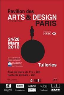 24 au 28 mars. 14e Pavillon des Arts et du Design au Jardin des Tuileries, Paris