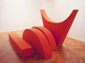 Franz Erhard Walther, Vier Formen (Ziegelton), 2008, coton, caoutchouc