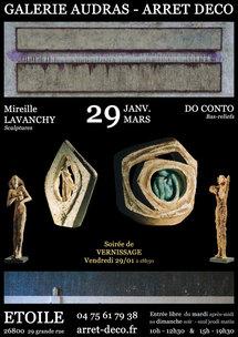 29 janvier au 29 mars. Do Conto & Mireille Lavanchy à la Galerie Audras - Arrêt Deco, Etoile/Rhône (26)