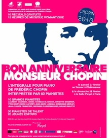 27 et 28 février. Audi souhaite un « bon anniversaire à Monsieur Chopin » salle Pleyel et au Tarmac à Châteauroux