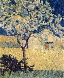 Achille Laugé. L'arbre en fleur, 1893, huile sur toile, 58 x 49 cm, collection particulière, courtesy galerie Hopkins-Custot. © DR. ADAGP