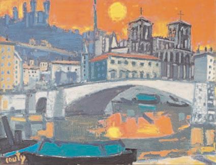 Couty, Le pont Bonaparte avec Saint-Jean