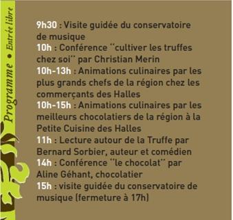 21 février 2010, Les Festiv'Halles de la Truffe à Avignon, truffe et chocolat