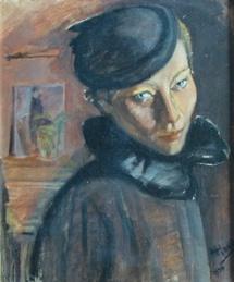 Alexandre Hinkis, Ria au chapeau - 1935 - huile sur toile