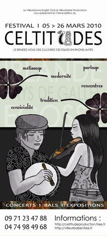 3 au 26 mars 2010, 17e Festival Celtitudes à Lyon, Villeurbanne, Villars les Dombes et Ars sur Formans