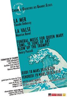 18 et 19 mars, Debussy, Ravel et Purcell par la formation de chambre des Chœurs et Orchestres des Grandes Ecoles, Paris