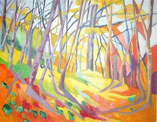 11 mars au 3 avril 2010, Chemins de traverse, peinture d'Isabelle Ardouin à l'Arbresle, Rhône