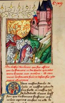 Siège d'Auberoche en Périgord par le comte de Lille (1345) © Bibliothèque municipale de Besançon et Scriptura Ltd