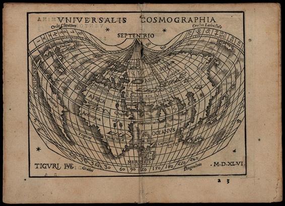Johannes Honter . Rudimenta cosmographica. Zürich, Christoph Froschauer, 1548