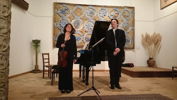 Saskia Lethiec directrice musicale de Musiques d'un siècle et François Daudet, directeur musical de Chemins de Pierre