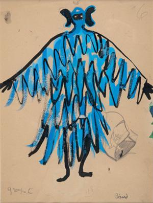 Projet pour un ballet, crayon et gouache, H. 40 x L. 30 cm, circa 1940