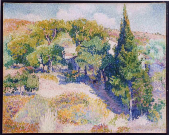 Henri-Edmond Cross, Cyprès T 72,9 x 91,8 cm 1904