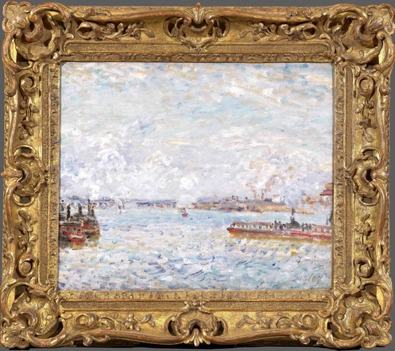 Sisley 1878  Paris.Point du jour 38 x 46cm