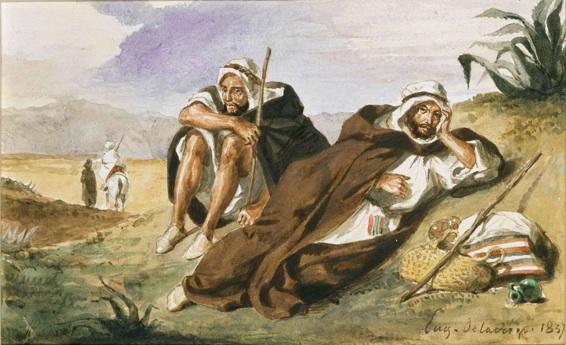 Delacroix, Les Arabes d'Oran 11,5x19cm 1837