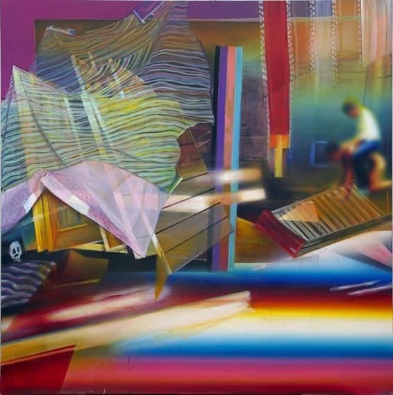 Olivier Passieux, Hamlet, 2009, huile acrylique sur toile, 200 x 200 cm
