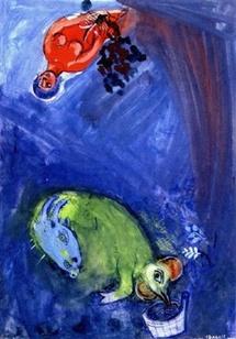 M. Chagall, Esquisse pour L'Air du temps, 1942, coll. particulière, ©ADAGP.