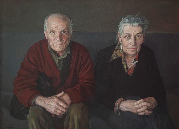 Antonio López et María Moreno, 2012. Huile sur toile, 73 x 100 cm