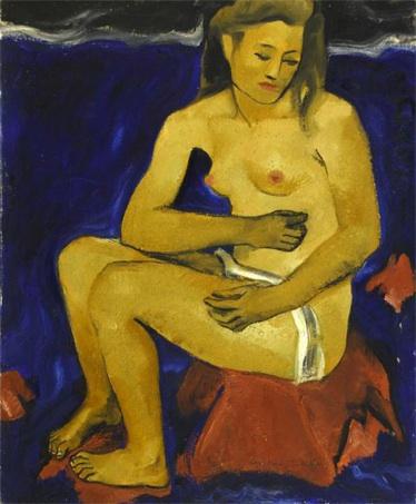 Alice Martinez-Richter, Nu assis devant la mer
