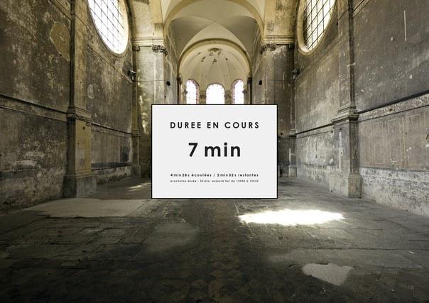 """7 au 29 mai 2010, Vincent Delmas expose """"Les Durées exposées"""" à l'église des Trinitaires de Metz"""
