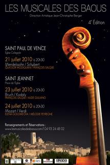 21 au 24 Juillet 2010, 4èmes Rencontres Musicales des Baous à St-Jeannet