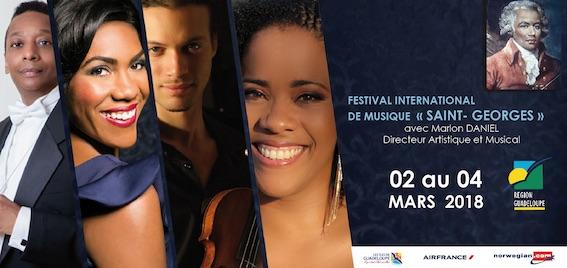 Festival international de musique « Saint-Georges » du 2 au 4 mars 2018 en Guadeloupe (Basse-Terre, Baie-Mahault, Lamentin, Pointe-à-Pitre)