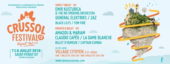 Evénement Crussol Festival : Emir Kusturica & The No Smoking Orchestra le 7 juillet 2018 à Saint-Péray, Ardèche