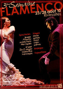 23 au 28 août 2010, 3ème Festival Semaine Flamenco à Rivesaltes