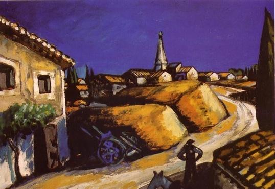"""Auguste Chabaud """"Les Meules près de la maison"""""""