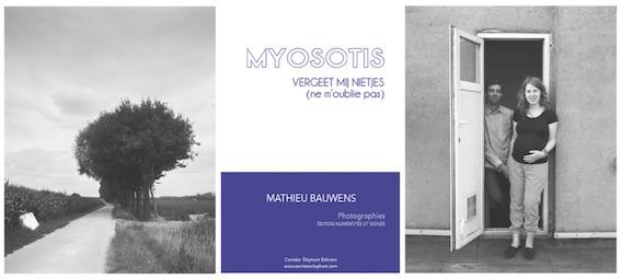 """""""Myosotis"""", un livre de Mathieu Bauwens aux Éditions Corridor Éléphant"""