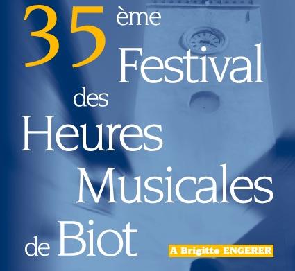 35e Festival des Heures Musicales de Biot du 18 mai au 20 juin 2018