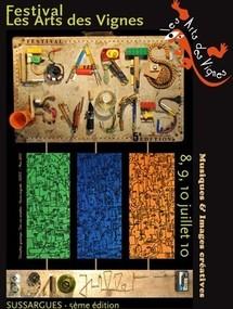 8 au 10 juillet, Festival Les Arts des VignEs - 5ème édition à Sussargues (Hérault)