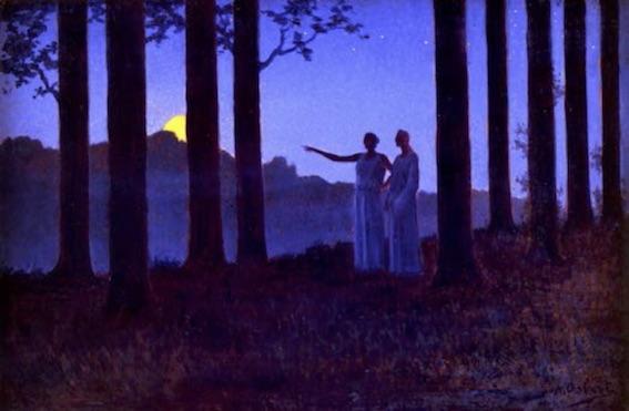 Alphonse Osbert (1857-1939), Le Mystère de la nuit, 1897