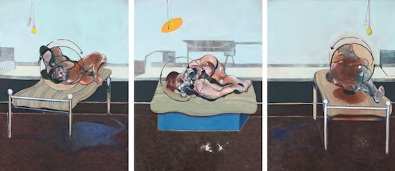 Francis Bacon, Three Studies of Figures on Beds, 1972. © The Estate of Francis Bacon. All rights reserved / 2018, ProLitteris, Zurich