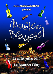 22 au 25 juillet 2010, Musico Beausset, musique classique au Beausset (Var)