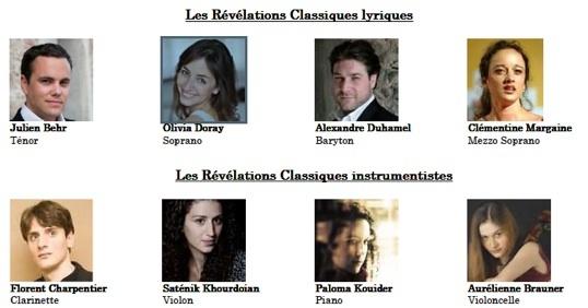 13 juillet 2010, Concert des Révélations Classiques de l'Adami au Théâtre du Jeu de Paume lors du Festival d'Aix-en-Provence