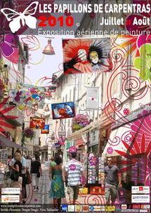2té 2010, Les papillons de Carpentras, exposition aérienne de peinture