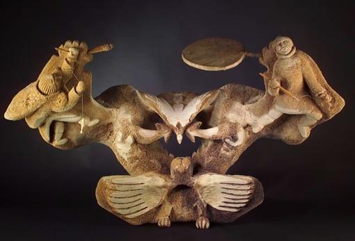 Jusqu'au 28 novembre 2010, Grand nord grand sud : artistes Inuit et aborigènes à l'Abbaye de Daoulas en Finistère
