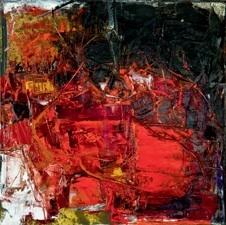 Giancarlo Bargoni Pensieri e colore, 2010 Huile sur toile 110 x 110 cm Collection particulière © ADAGP, Paris 2010