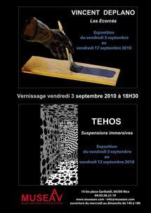 3.9.10 au 17.9.10,  exposition Vincent Deplano & Tehos au Museaav, Nice
