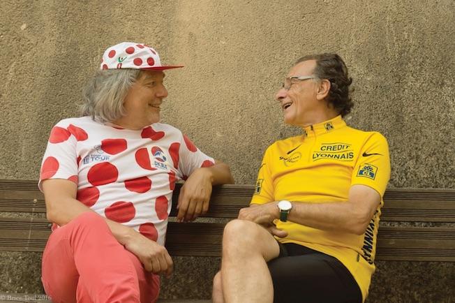 Alain Carré et François-René Duchâble chantent la vélocipédie le 30 juillet