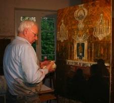 Michel Maly en son atelier