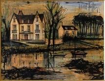 Berbard Buffet, Villa au bord de l'eau, 1961
