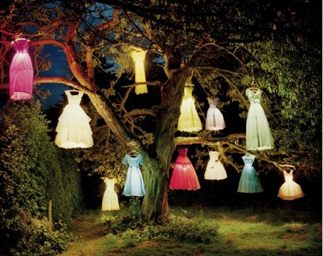 Tim Walker, Dress Lamp Tree, 2002