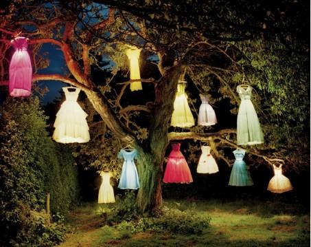 Tim Walker, Dress Lamp Tree, 2002