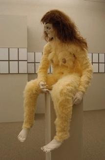 Alma (d'après Kokoschka), 2007 Technique mixte, hauteur 168 cm Courtesy galerie Xippas, Paris et galerie Evergreene, Genève