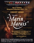 5.12.10 : concert de l'Ensemble Marin Marais à l'occasion de la parution du 23e CD de l'intégrale des pièces de violes de Marin-Marais