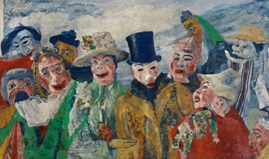 Ensor, L'Intrigue, 1890, © Lukas © Sabam Belgium