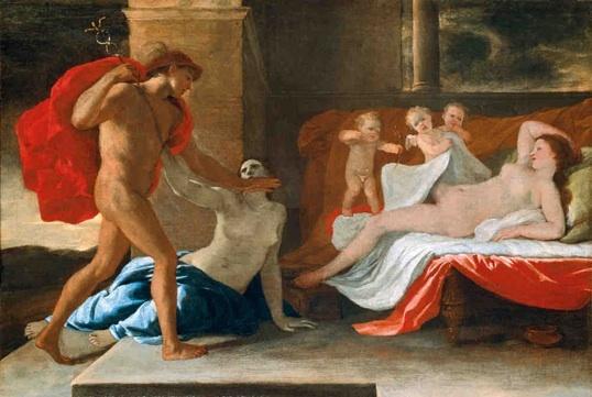 Nicolas Poussin (1594-1665), Mercure, Hersé et Aglaure. Vers 1624, huile sur toile, 53 x 77 cm.  École nationale supérieure des Beaux-arts, Paris © Cliché École nationale supérieure des Beaux-Arts, Paris